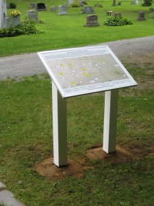 Map display at the Hatlee Trustees Memorial