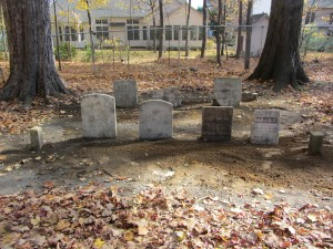 Methodist Memorial Stones are in their new location.