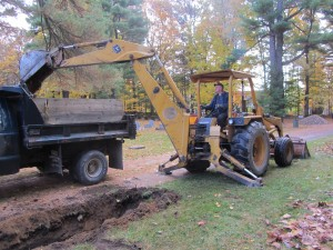 Excavation work was recently completed along the upper road to assist in drainage of water after heavy rain.